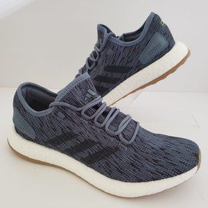 Adidas PureBoost Raw Steel Grey Running Shoes.